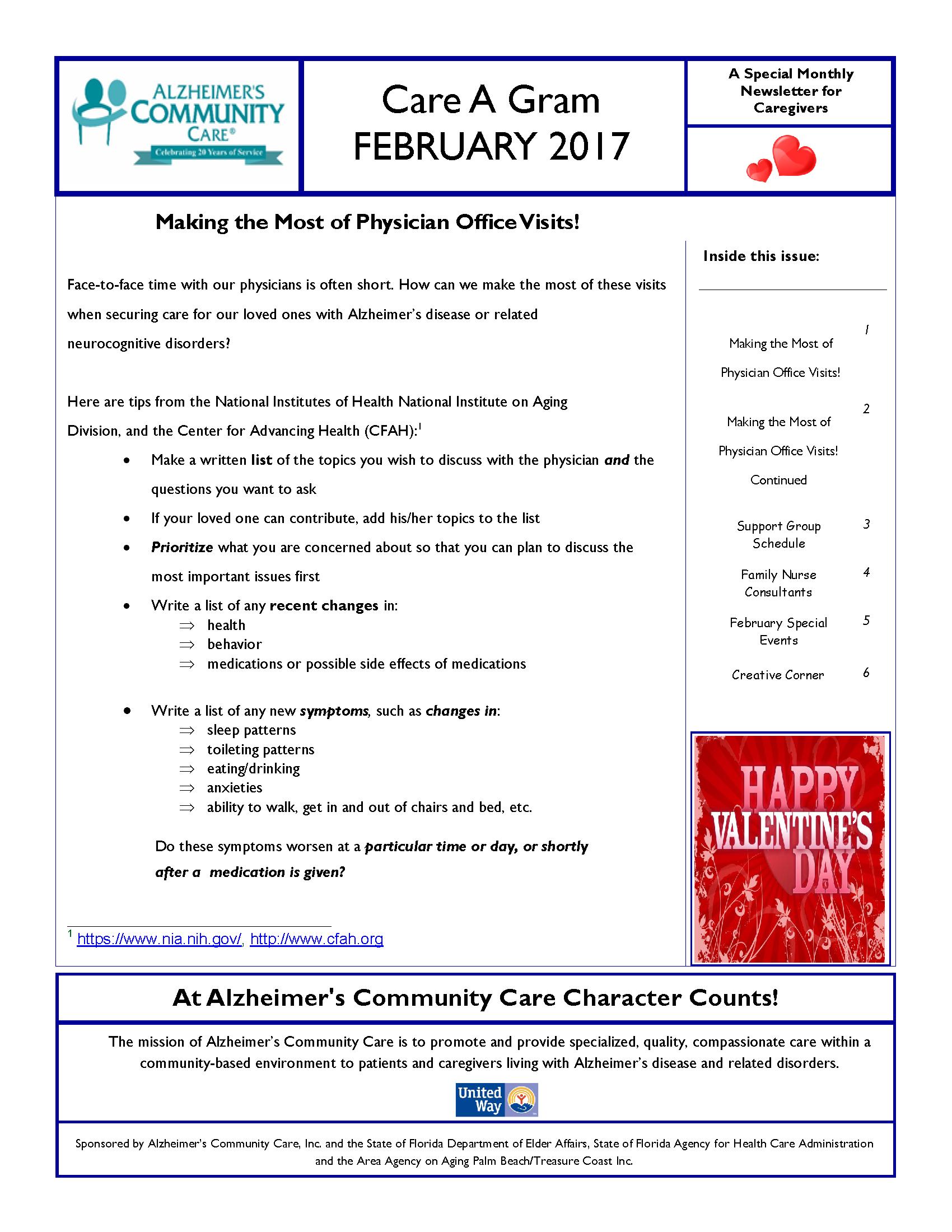 February 2017 Care A Gram