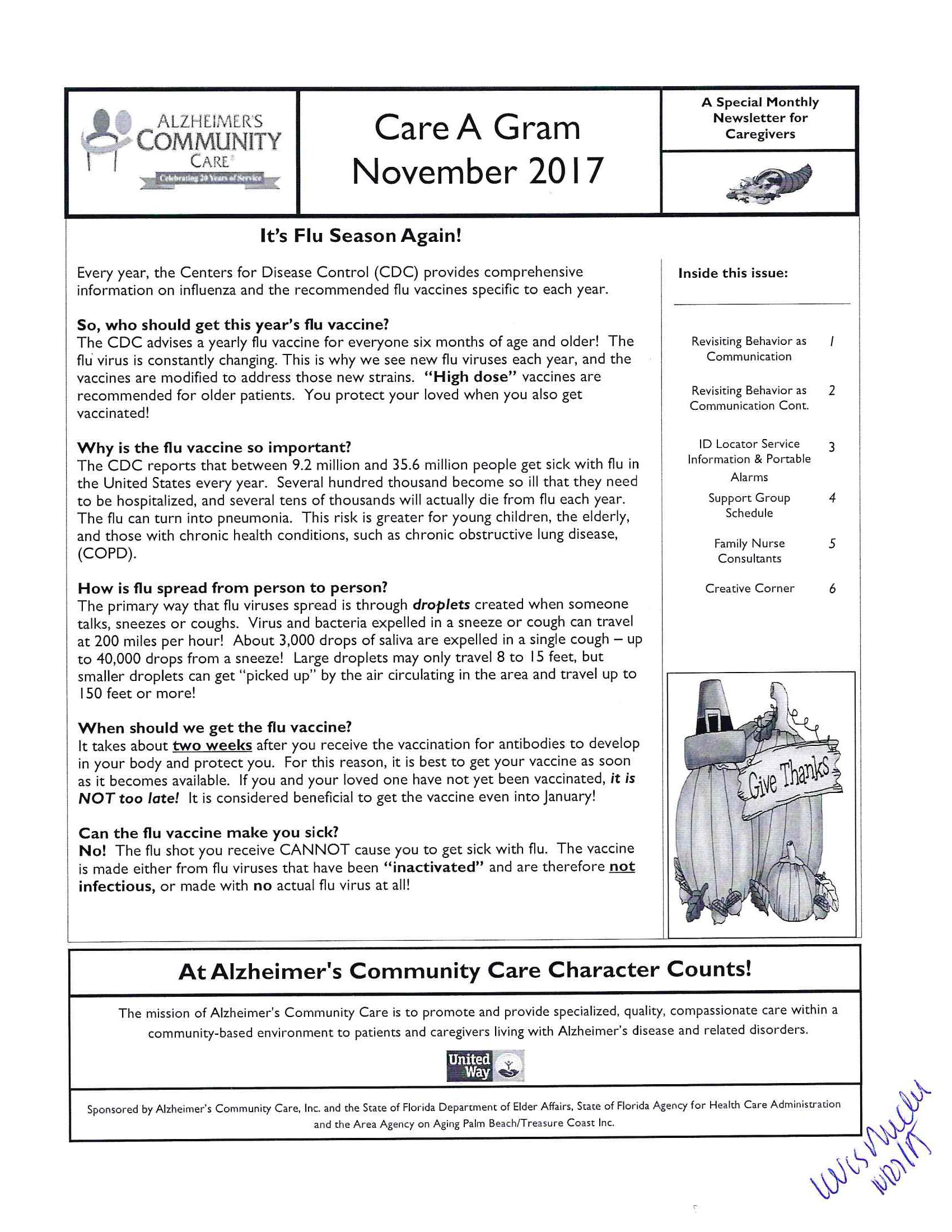 November 2017 Care A Gram