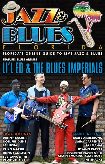 Jazz & Blues Florida February 2019 Issue Cover