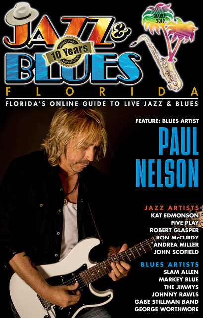 Jazz & Blues Florida March 2019 Issue Cover