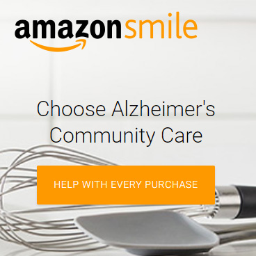 Click here to donate a small portion of your Amazon purchases to Alzheimer's Community Care.