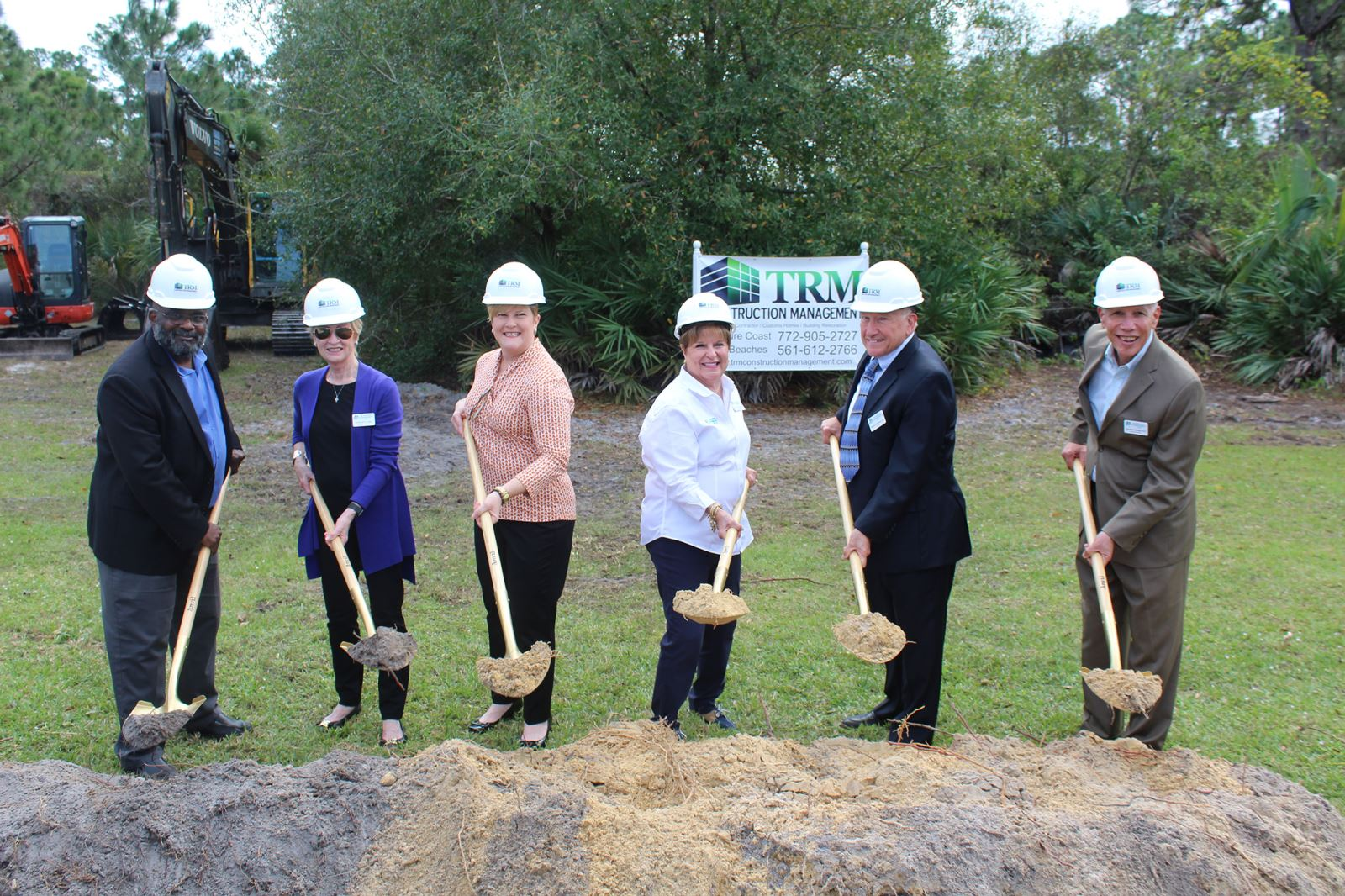 Groundbreaking ceremony for the 12th Day Center at Grace Lutheran Church in Port St. Lucie (LTR) William Armstead, Deborah A. Diaz, Bonney A. Johnson, Mary M. Barnes, Robert J. Gorman & David Dangerfield
