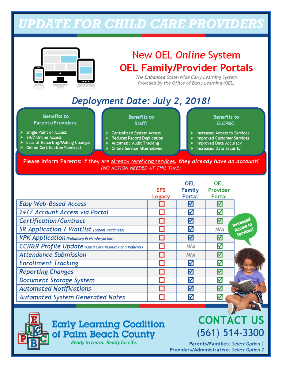 New Oel Provider Portal Early Learning Coalition Of Palm Beach County