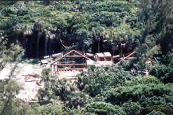 Historic image of nature center being built