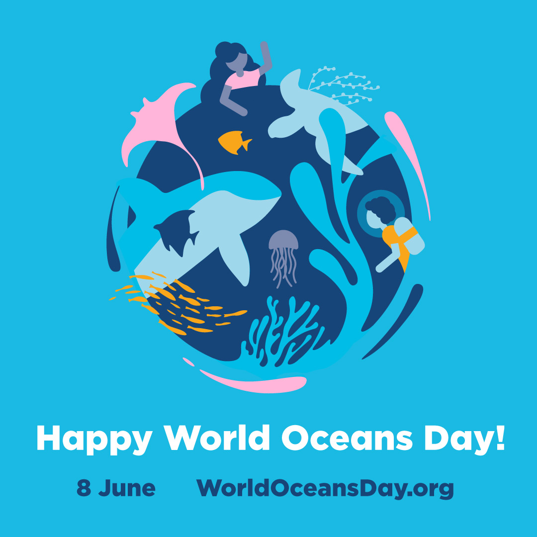 Happy World Oceans Day! 8 June, worldocensday.org
