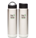 picture of 2 kleen kanteen stainless steel bottles
