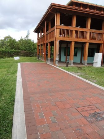 paver walkway through lawn