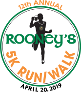 Register for the 12th Annual Rooney's 5K Run/Walk - Sat. April 20th 2019